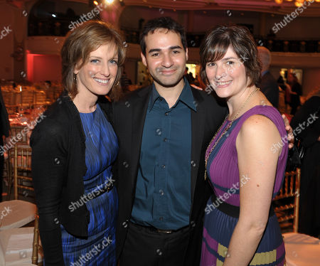 IMAGE DISTRIBUTED FOR THE HOLLYWOOD REPORTER - Co-chairman, Disney Media Networks and President, Disney/ABC Television Anne Sweeney, attorney and activist Sandra Fluke and Adam Mutterperlat, from left to right, attend The Hollywood Reporter's 21st Annual Women in Entertainment Power 100 breakfast presented by Lifetime on in Beverly Hills, Calif