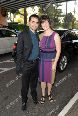 Attorney and activist Sandra Fluke, right, and Adam Mutterperl arrive at The Hollywood Reporter's 21st Annual Women in Entertainment Power 100 breakfast presented by Lifetime on in Beverly Hills, Calif