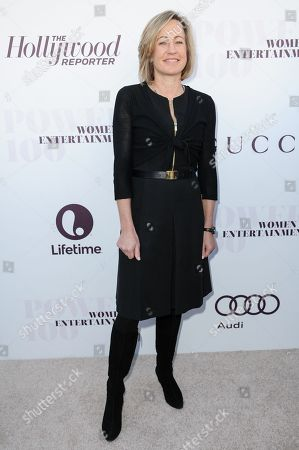 Dee Dee Myers arrives at the The Hollywood Reporter's Women In Entertainment Breakfast, in Los Angeles