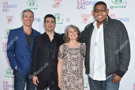 Randall Kaplan, from left, John Terzian, Jill Bauman, and Omar Miller arrive at The IMAGINE BALL LA Benefit at the House of Blues, in Los Angeles