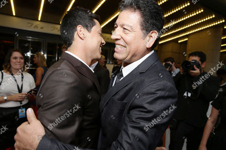 Stock Image of Reynaldo Pacheco and Louis Arcella seen at The Toronto International Film Festival's special presentation of Warner Bros. Pictures' drama OUR BRAND IS CRISIS, co-hosted by Audi,, in Toronto, CAN