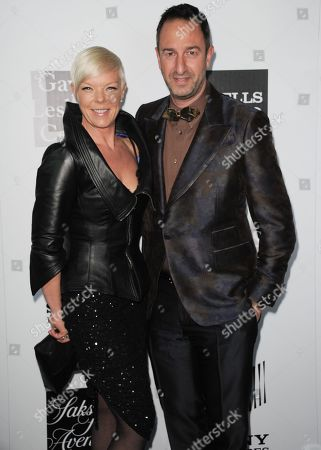 """Tabatha Coffey, left, and Christos Garkinos arrive at the L.A. Gay and Lesbian Center's """"An Evening"""" at the Beverly Wilshire on in Los Angeles"""