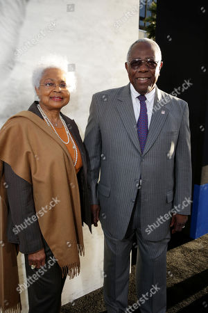 Billye Aaron and husband Hank Aaron at The Los Angeles Premiere of Warner Bros. Pictures' and Legendary Pictures, 42, on Tuesday, April, 9th, 2013 in Los Angeles