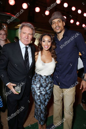 Harrison Ford, Matt Barnes and Gloria Govan at The Los Angeles Premiere of Warner Bros. Pictures' and Legendary Pictures' 42, on Tuesday, April, 9th, 2013 in Los Angeles