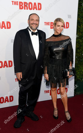 Movie producer Joel Silver and his wife Karyn Fields pose together at The Broad museum's opening and inaugural gala, in Los Angeles