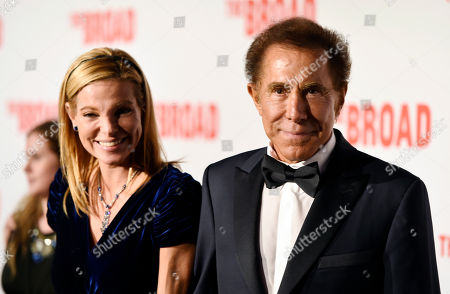Steve Wynn and his wife Andrea Hissom pose together at The Broad museum's opening and inaugural dinner, in Los Angeles