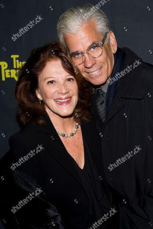 """Linda Lavin and Steve Bakunas arrive to the opening night performance of the Broadway play """"The Performers"""" on in New York"""