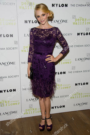 """Erin Wilhelmi attends """"The Perks of Being a Wallflower"""" premiere hosted by the Cinema Society and Lancome on in New York"""