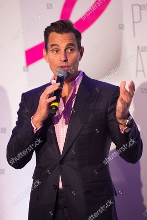 Bill Rancic speaks on stage at The Pink Agenda's annual benefit gala at Three Sixty, in New York