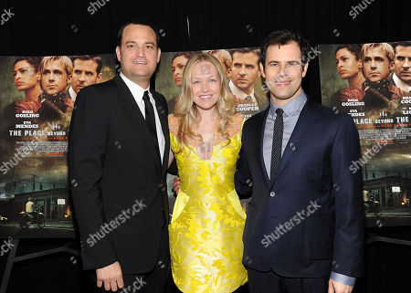 """Producers James Patricof, left, Lynette Howell and Alex Orlovsky attend the premiere of Focus Features' """"The Place Beyond The Pines"""" at the Landmark Sunshine Theater on in New York"""