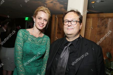 Nathalie Rapti Gomez, left, and director Carlo Carlei attend the premiere of Swarovski Entertainmentâ?™s first film ROMEO & JULIET, distributed by Relativity Media and in theaters nationwide October 11th on in Hollywood, Calif