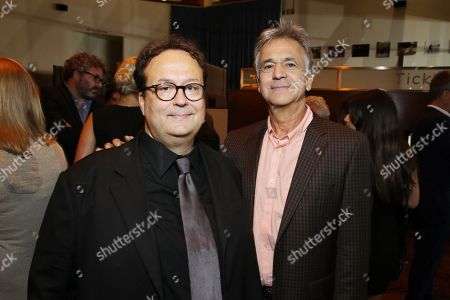Director Carlo Carlei, left, and Russell Schwartz, president of theatrical marketing, Relativity, attend the premiere of Swarovski Entertainmentâ?™s first film ROMEO & JULIET, distributed by Relativity Media and in theaters nationwide October 11th on in Hollywood, Calif