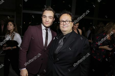 Ed Westwick, left, and director Carlo Carlei attend the premiere of Swarovski Entertainment's first film ROMEO & JULIET, distributed by Relativity Media and in theaters nationwide October 11th on in Hollywood, Calif