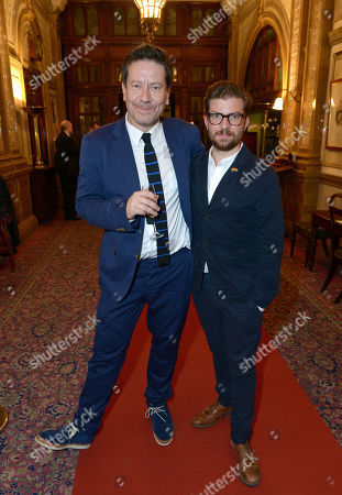 Alexi Kaye Campbell and Jamie Lloyd at The Pride Curtain Call Party held at Royal Horseguards Hotel,, in London