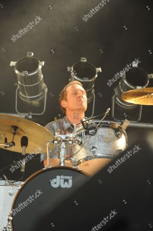Josh Freese with The Replacements performing at the Shaky Knees Music Festival, in Atlanta
