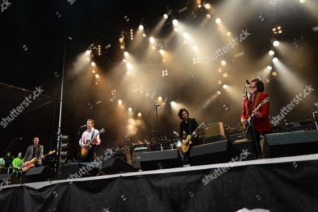 Paul Westerberg, Dave Minehan, Tommy Stinson and Josh Freese joined By Green Day's Billie Joe Armstrong with The Replacements performing at the Shaky Knees Music Festival, in Atlanta