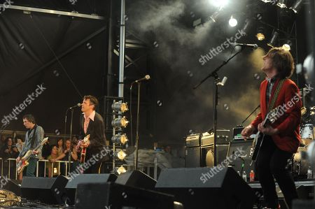 Paul Westerberg, Dave Minehan, Tommy Stinson and Josh Freese with The Replacements at the Shaky Knees Music Festival, in Atlanta