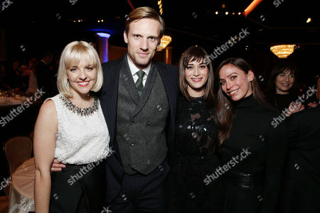 Helene Yorke, Teddy Sears, Lizzy Caplan and Milissa Skoro at The Saban Community Clinic 37th Annual Dinner Gala, on in Beverly Hills, Calif