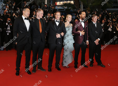 From right, Gus Van Sant, Matthew McConnaughey, Naomi Watts, Chris Sparling and guests pose for photographers upon arrival for the screening of the film The Sea of Trees at the 68th international film festival, Cannes, southern France