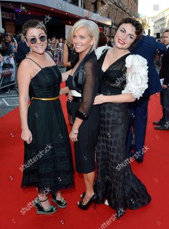 Jamie Winstone, Elaine McCausland, Lois Winstone poses at The Sweeney UK Premiere at Vue West End on in London