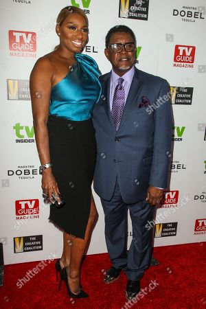 NeNe Leakes, left, and Gregg Leakes attend The Television Industry Advocacy Awards Gala at Sunset Tower Hotel on in Los Angeles