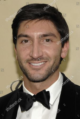 Figure skater Evan Lysacek arrives at the Weinstein Company Golden Globe After Party at the Beverly Hilton Hotel, in Beverly Hills, Calif