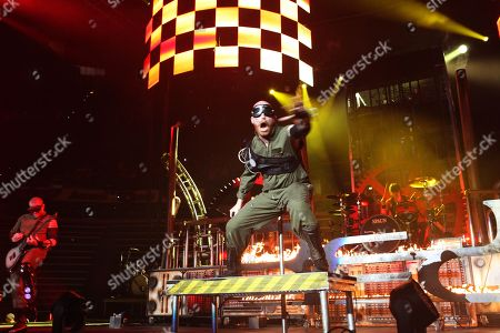 Michael Barnes of Red performed as part of The Winter Jam 2013 Tour Spectacular at Philips Arena, in Atlanta
