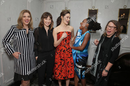 "Executive Producer/Writer Krista Vernoff, Isidora Goreshter, Emmy Rossum, Shanola Hampton and Production Designer Nina Ruscio seen at The Women of ""Shameless"" Panel at The London West Hollywood, in West Hollywood, CA"