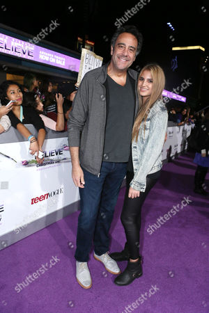 """Brad Garrett and Hope Garrett seen at the World Premiere of Open Road's """"Justin Bieber's Believe"""" presented by Teen Vogue and sponsored by Clearasil, on in Los Angeles"""