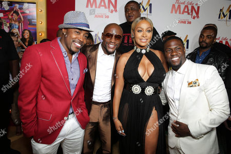 Producer William Packer, Floyd Mayweather Jr., La La Anthony and Kevin Hart seen at the The World Premiere of Screen Gems' 'Think Like a Man Too' on in Los Angeles