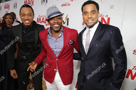 Terrence Jenkins, Producer William Packer and Michael Ealy seen at the The World Premiere of Screen Gems' 'Think Like a Man Too' on in Los Angeles