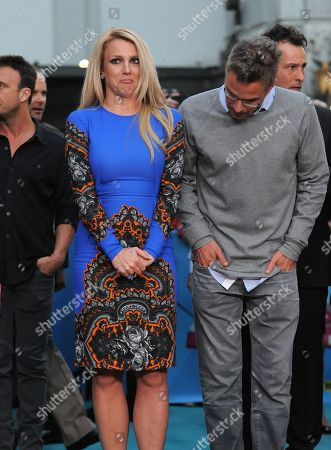 """Jason Trawick and Britney Spears attend """"The X Factor"""" season two premiere at Grauman's Chinese Theatre, in Los Angeles"""
