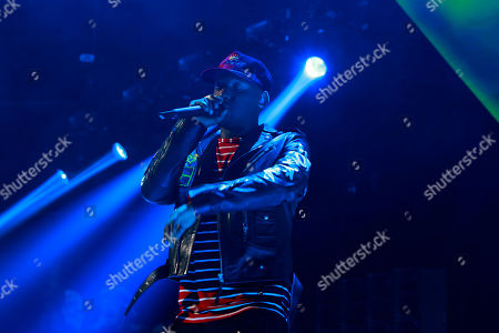Hit-Boy performs onstage at the Tidal X: 1020 Amplified by HTC concert at the Barclays Center on in Brooklyn, New York