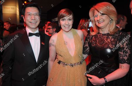 Kai-Fu Lee, Lena Dunham, Arianna Huffington and guest attends the TIME's 100 Most Influential People in the World Gala on Tuesday, April, 23, 2013 in New York City, New York
