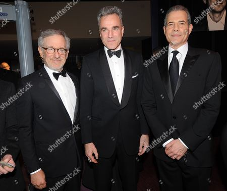 Stock Picture of Director Steven Spielberg, Daniel Day-Lewis and Time magazine's managing editor Rick Stengel Rick Stengel attend the TIME's 100 Most Influential People in the World Gala on Tuesday, April, 23, 2013 in New York City, New York