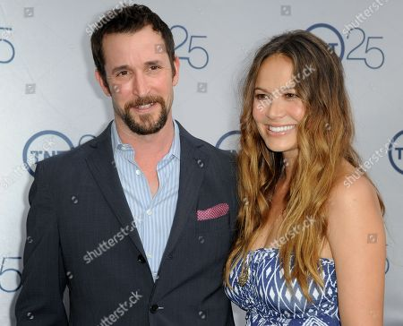 Noah Wyle, and Moon Bloodgood arrive at the TNT 25th Anniversary Party at The Beverly Hilton Hotel on in Los Angeles