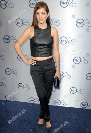 Julie Gonzalo arrives at the TNT 25th Anniversary Party at The Beverly Hilton Hotel on in Los Angeles