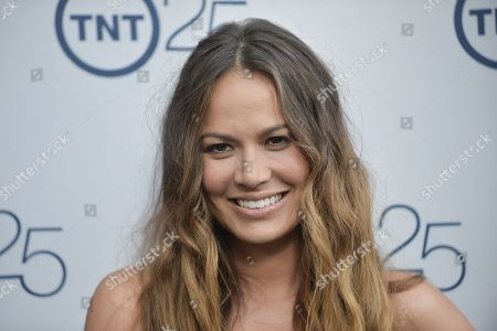 Moon Bloodgood arrives at the TNT 25th Anniversary Party at The Beverly Hilton Hotel on in Los Angeles