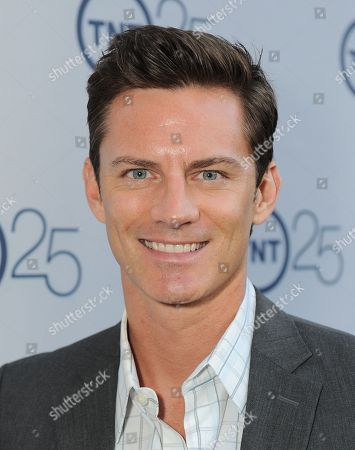 Stock Image of R. Brandon Johnson arrives at the TNT 25th Anniversary Party on at The Beverly Hilton in Beverly Hills, Calif