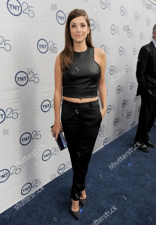 Julie Gonzalo arrives at the TNT 25th Anniversary Party on at The Beverly Hilton in Beverly Hills, Calif