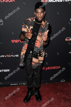 Nadji Jeter arrives at Trevor Jackson's 18th Birthday Party, in Los Angeles