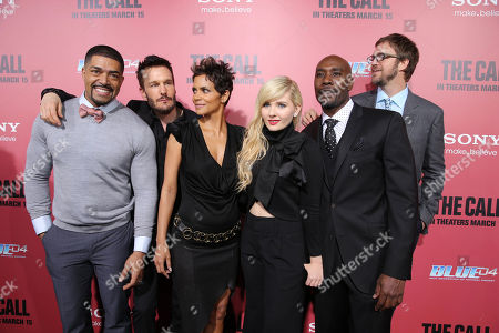 David Otunga, Michael Eklund, Halle Berry, Abigail Breslin, Morris Chestnut and Director Brad Anderson at TriStar Pictures World Premiere of 'The Call', held at the ArcLight Hollywood on in Los Angeles