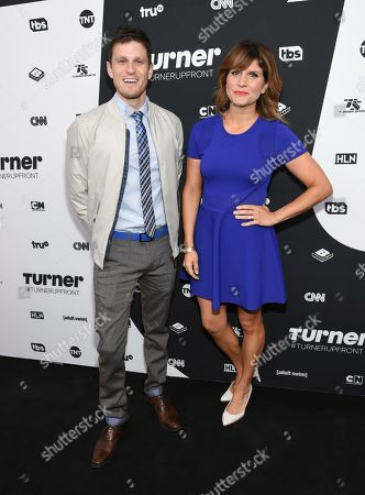 Stock Photo of Kevin Pereira and Brooke Van Poppelen attend the Turner Network 2016 Upfronts at Nick & Stef's Steakhouse, in New York