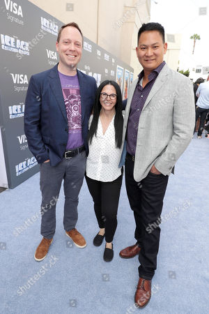 """Director Mike Thurmeier, Producer Lori Forte and Director Galen T. Chu seen at Twentieth Century Fox """"Ice Age: Collision Course"""" Friends and Family Screening at Zanuck Theater, in Los Angeles"""