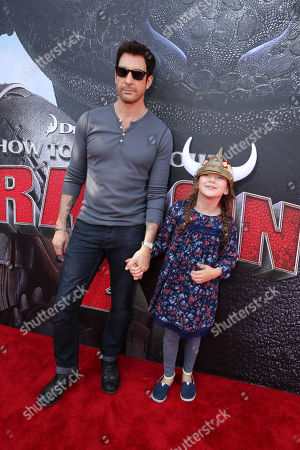 Dylan McDermott and Charlotte Rose McDermott seen at the Twentieth Century Fox and DreamWorks Animation Los Angeles Premiere of 'How to Train Your Dragon 2', in Westwood, Calif