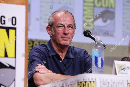 Writer Dave Gibbons seen at Twentieth Century Fox Panel at 2014 Comic-Con, in San Diego, Calif