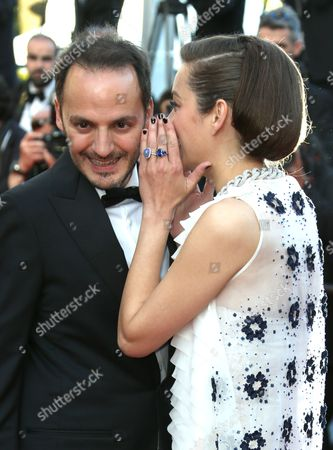 Fabrizio Rongione and Marion Cotillard on the red carpet for the screening of Two Days, One Night (Deux jours, une nuit) at the 67th international film festival, Cannes, southern France