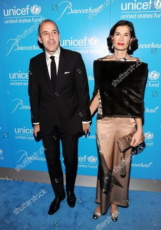Television personality Matt Lauer and wife Annette Roque attend the 8th Annual UNICEF Snowflake Ball at Cipriani 42nd Street on in New York
