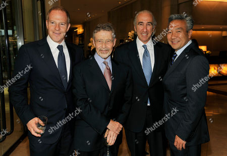 Left to right, Toby Emmerich, left, President and COO of New Line Cinema, Barry Meyer, Chairman of Warner Bros. Entertainment, Gary Barber, Chairman and CEO of MGM, and Kevin Tsujihara, CEO of Warner Bros., pose together at the United Friends of the Children Brass Ring Awards Dinner at the Beverly Hilton Hotel on in Beverly Hills, Calif