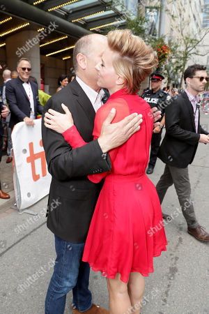 "Producer Christopher Meledandri and Scarlett Johansson seen at Universal Pictures ""Sing"" at the 2016 Toronto International Film Festival, in Toronto"